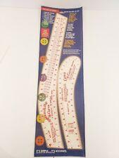 Vintage 1998 Inseam & Hip Curve/Designer's Curve Ruler Set by B-oleyar