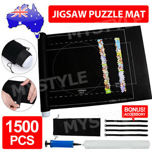 1500PCS Jigsaw Puzzle Roll Up Mat Felt Large Storage Pad Toys with Inflator Tool