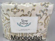 Stone Cottage Belvedere Cotton King Duvet Cover Cream / Gold
