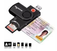 LECTOR DE TARJETAS INTELIGENTE USB 2.0 ACCESO DNI/BANCO/SD/MICRO-SD/TF/MS/M2/SIM