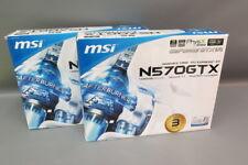 Lot (2) MSi GeForce GTX 570 N570GTX M2D12D5 1280MB Graphics Cards