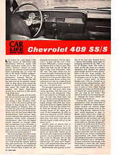 1962 CHEVROLET BEL AIR SS/S SPORT COUPE 409/409 HP  ~  ROAD TEST/ ARTICLE / AD