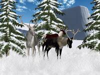 "perfect 36x24 oil painting handpainted on canvas""Winter Reindeer Scenery"" @N4427"