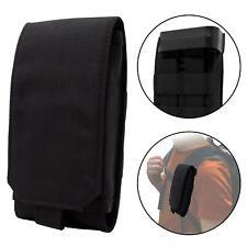 Clakit Clip Klemmhalterung + Strap-Pack Tasche für L Handys/Smartphones Schwarz