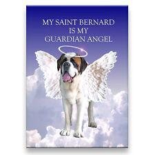 St Bernard Guardian Angel Fridge Magnet Saint Dog