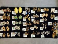 Huge Lot Vintage Earrings LISNER Coro Pakula Monet Individual Or Lot