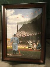 Lou. Gehrig -Babe ruth, limited framed print. Man cave.Size Is 11 1/2 W/ 15 H.