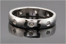 0.18 Ct Natural Diamond Full Eternity Band Ring Sterling Silver 925 SDR 66