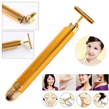 Energy Skin Beauty Bar 24K Gold Pulse Firming Massager Facial Roller Massager