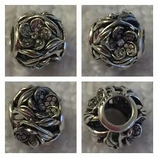 PANDORA OPENWORK PAVE' FLOWER BALL CHARM REF 791419ZN S925 ALE RRP £55.00