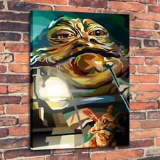 "Home Decor Art QUALITY CANVAS PRINT Oil Painting Jabba The Hutt,12""x16"""