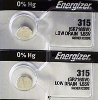 ENERGIZER 315 SR716SW (2 piece) WATCH BATTERIES NEW SEALED Authorize Seller