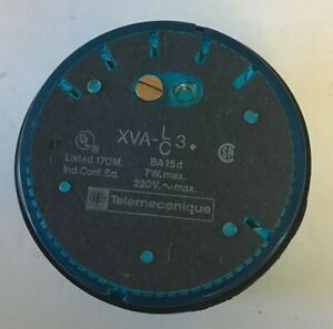 TELEMECANIQUE XVA-LC3 INDICATING BEACON COVER BLUE 7W 220VAC