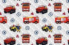 """Jersey """" Feuerwehrmann Sam """" Feuerwehrautos - Kinderstoff"""