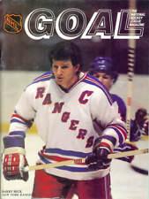 Oct. 9, 1982 - Pittsburgh Penguins vs New York Rangers Game Program Vintage Rare