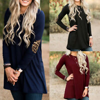 Fashion Women Long Sleeve T-Shirt Tops Ladies Casual Loose Pullover Tee Blouse