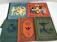 5 Vintage Children's Song Music Textbooks Child's Book of Songs Hour 1930's