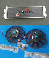 "FANS & Heat Exchanger Air to Water Intercooler For Cobalt Mustang 24""x8""x2.5"""