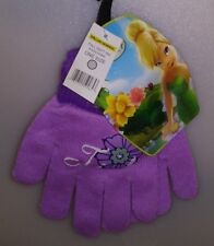 DISNEY 1 PAIR KIDS KNIT GLOVES DISNEY FAIRES TINK 1 SIZE PURPLE GIRLS A-4