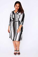 Plus Size Chiffon Striped Dresses for Women