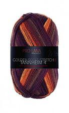 Tannheim 4 4-fach Pro Lana Sockenwolle Stretch bordeaux orange Golden Socks