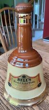 BELL'S SCOTCH WHISKY DECANTER - BROWN & GOLD- ARTHUR BELL & SONS