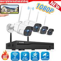 TOGUARD 8CH 1080P NVR Außen Überwachungskamera System 4x CCTV Sicherheit Kameras