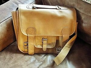 Vintage Style Paul Marius France Tan Leather Satchel Bag Unused? Original Label