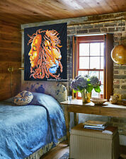 """30""""X40"""" Lion Head With Bob Marley Cotton Wall Hanging Tapestry Poster Size Decor"""