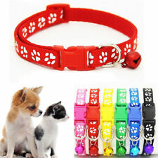 1 Piece Pet Supply Cat and Dog Neck Chain Cute Dog Paw Pattern Printed Collar