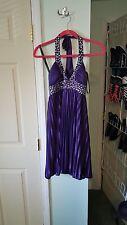Purple Halter Style Dress Size Large
