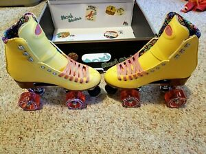 Moxi Beach Bunny Roller Skates Lemonade Yellow Size 4 (5-5.5) Riedell IN STOCK!!