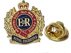 Royal Engineers Lapel Pin Badge Military