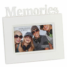 "Memories 6"" x 4"" Freestanding White Vintage Photo Frame By Juliana Gifts"