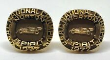 1977 USAC NATIONAL CHAMPIONS CHAMPIONSHIP RACING CUFFLINKS NOT RING TOM SNEVA