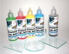 Window Color Set mit 5 Farben und 3 Glasplatten