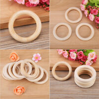 Natural Wood Ring Teether Baby Chewable Silicone Teething Bracelet Rattle Toys