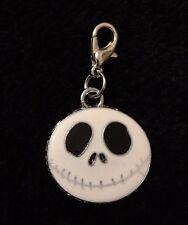 Jack Skellington Bracelet Charm Clip Silver Enamel Pendant Nightmare Halloween