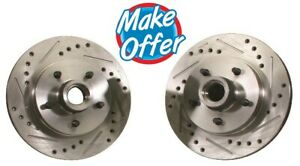 CPP GM 6 Lug Disc Brake Conversion Rotor 1960-87 Chevy GMC Truck Drilled Slotted
