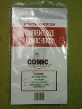 More details for 100 current size comics bags (comic concept)