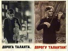 La propaganda culturale MUSICA opportunità talenti sovietico URSS VIOLINO POSTER bb2436b