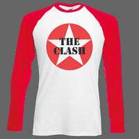 THE CLASH PUNK ROCK T-SHIRT undertones jam ramones BASEBALL LONG SLEEVE S-3XL