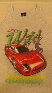 Vtg  1992  Ferrari 480 CI Wild Horses Muscle Shirt/Tank Top sz XL