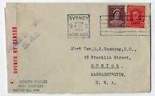 1942 HUNTERS HILL NEW SOUTH WALES Australia Cover VILLA MARIA MONASTERY Cushing
