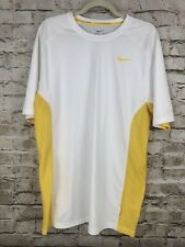 Nike Livestrong T Shirt Mens Large Polyester Dri-Fit Adult Swoosh White Vintage