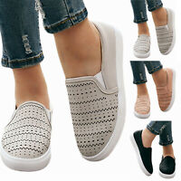 Women's Flats Sneakers Loafers Slip On Comfy Trainers Breathable Casual Shoes