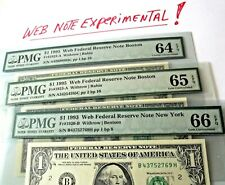 "Lot of 3 Graded ""64+65+66"" Pmg *Web Press Notes* 1995 *Rare* > Free Ship -"