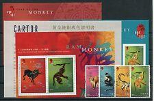 Hongkong 1135/38 Block 118/20 postfrisch / Neujahr - Affe ..................2/50