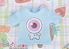 ☆╮Cool Cat╭☆【PR-51N】Blythe Pullip Doll Print Tee(Eyeball Baby)# Baby Blue