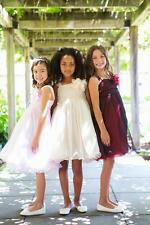 Flower Girl & Communion Dresses Kid's Dream # 298--Color White--Size 7/8